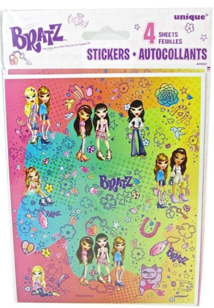 BRATZ - Lucky and Charmed Stickers 4 Sheets