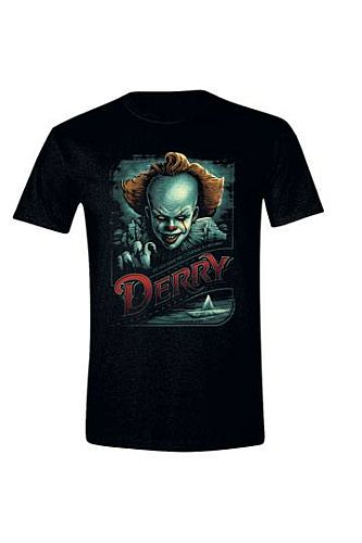 Stephen Kings It - T-Shirt Derry Propaganda Poster - Size: Small (S)