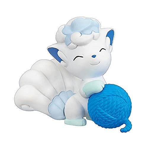 Pokemon Yarn Ball (Garnnøgle) - Vulpix (Alola Form) - Tomy Figur 4cm *Top Kvalitet*