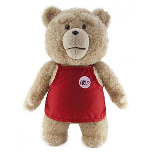 Ted Plush - Talking Ted in Apron (R-Rated) 40cm *Top kvalitet* *Crazy tilbud*