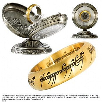 The Lord of the Rings - One Ring - Stainless Steel - Gold Color - Size: US 12